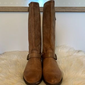 Ariat Brown Leather Barbury  Boots Sz-7.5